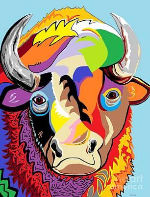 Bison Poster by Eloise Schneider