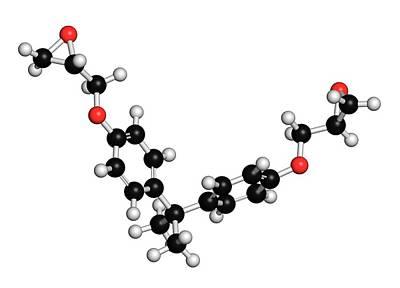 Bisphenol A Diglycidyl Ether Molecule Poster by Molekuul