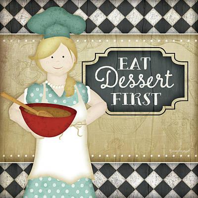 Bistro Chef Dessert Poster