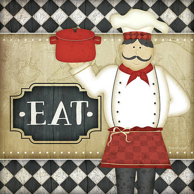 Bistro Chef Eat Poster