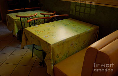Bistro In Provence Poster by Deborah Gray Mitchell