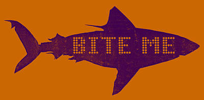Bite Me Poster by Michelle Calkins