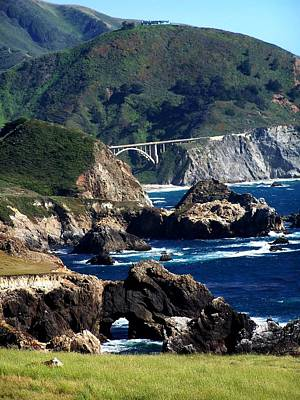 Poster featuring the photograph Bixby Bridge by Christine Drake