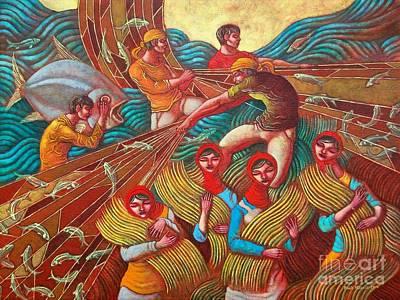 Biyaya Ng Lupa At Dagat Poster by Paul Hilario