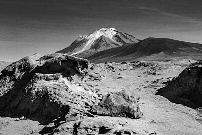 Bizarre Landscape Bolivia Black And White Poster by For Ninety One Days