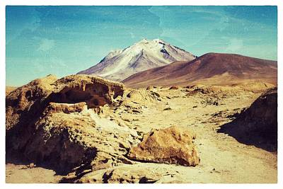 Bizarre Landscape Bolivia Old Postcard Poster by For Ninety One Days