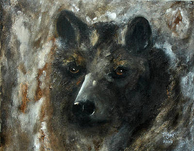Poster featuring the painting Bjomolf - Bear Wolf by Barbie Batson