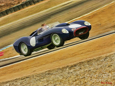 Black 1957 Ferrari 250 Testa Rossa Poster