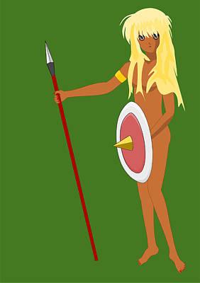 Black Amazon Warrior Poster