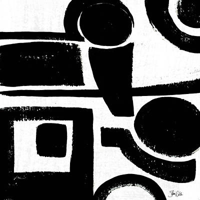Black And White Abstract II Poster by Shanni Welsh