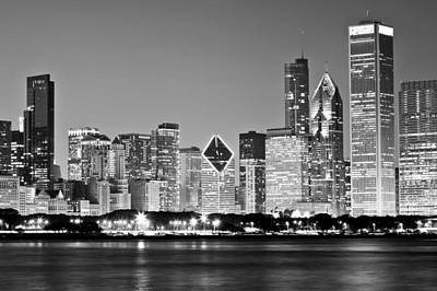Black And White Chicago Skyline Poster