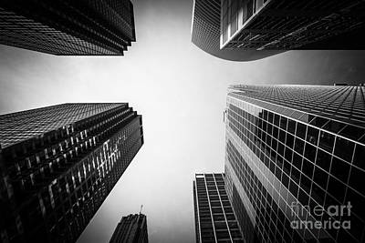 Black And White Chicago Skyscraper Buildings Poster by Paul Velgos