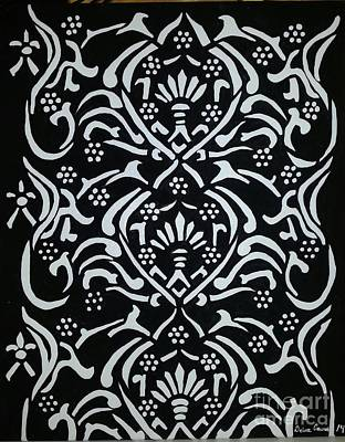 Black And White Classic Damask Poster by Debra Acevedo