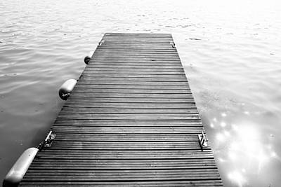 Black And White Dock Poster by Pati Photography