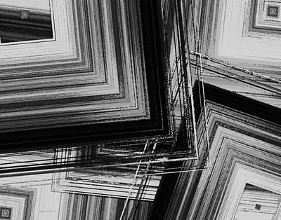Black And White Geometric Art Poster by Mario Perez