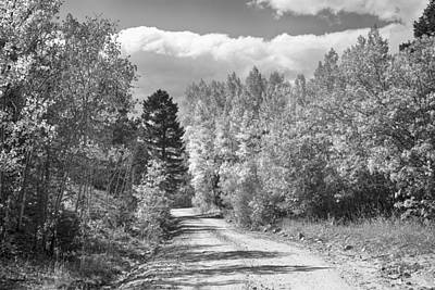 Black And White High Elevation Rocky Mountain 4 Wheeling Dirt Ro Poster