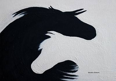 Black And White Horses Together Forever Poster by Barbie Batson