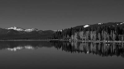 Black And White Lake Tahoe Reflection Poster