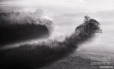 Black And White Mist Landscape Poster by Simon Bratt Photography LRPS