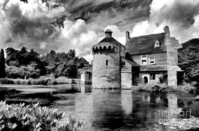Scotney Castle In Mono Poster