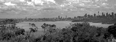 Poster featuring the photograph Black And White Sydney by Miroslava Jurcik