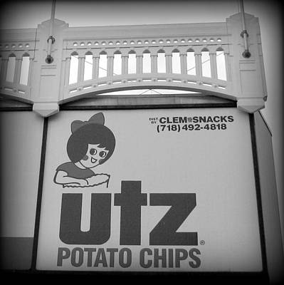 Black And White Utz Sign Poster