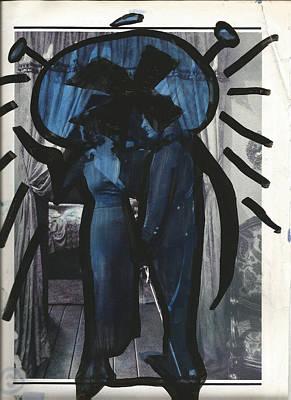 Black Blue Alien X #3. Poster