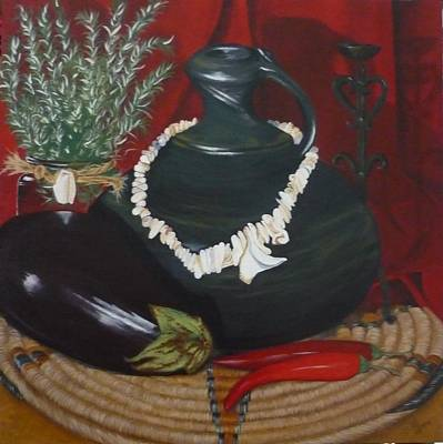 Poster featuring the painting Black Bottle by Helen Syron