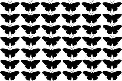 Black Butterflies Poster
