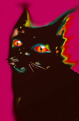 Black Cat 4 Poster by Marcello Cicchini