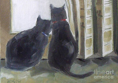 Black Cats  Poster by Mary Hubley