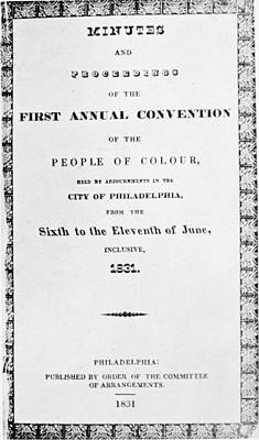 Black Convention, 1831 Poster