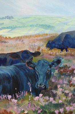 Black Cows On Dartmoor Poster