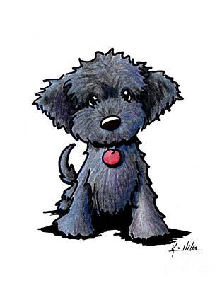 Black Doodle Puppy Poster