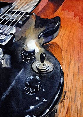 Black Epiphone Poster by Spencer Meagher