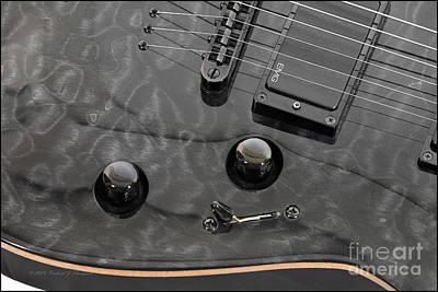 Black Guitar Poster