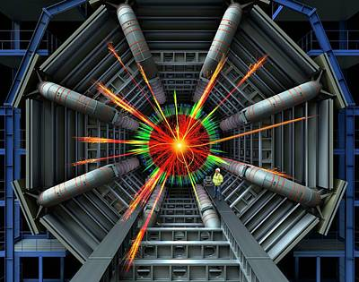 Black Hole Simulation On Lhc Poster by David Parker
