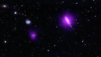 Black Holes And Galaxies Poster by Nasa/jpl-caltech