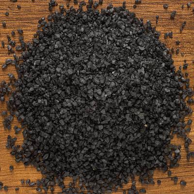 Black Lava Salt Poster