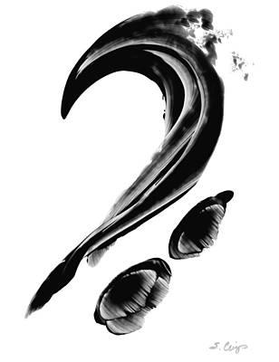 Black Magic 300 - Black And White Art Poster