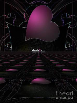 Black Pink Luv Line Poster