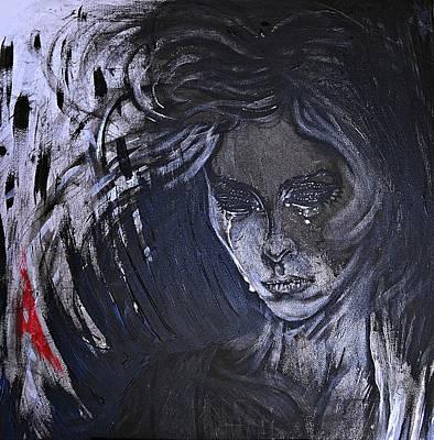black portrait 16 Juliette Poster by Sandro Ramani