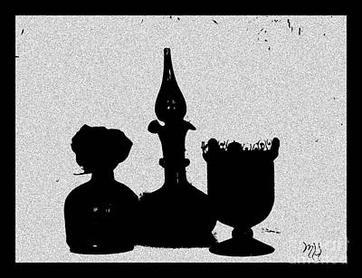Black Sillouette Poster by Marsha Heiken