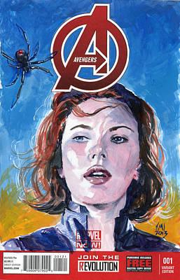 Black Widow Avengers Poster by Ken Meyer jr