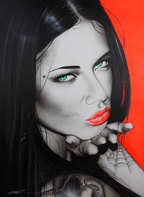 Adriana Lima - ' Black Widow ' Poster