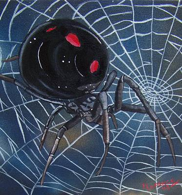 Black Widow Poster by Debbie LaFrance