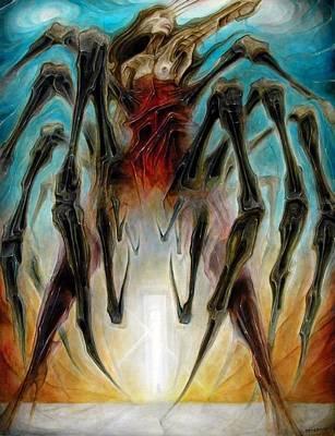 Black Widow Zombie Poster