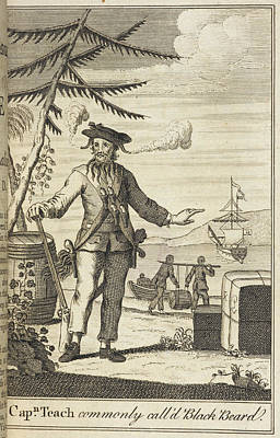 Blackbeard Poster by British Library