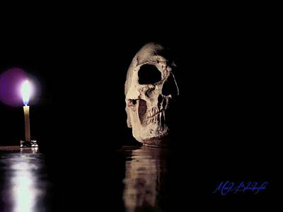 Poster featuring the photograph Blackbeard's Skull by Mark Blauhoefer
