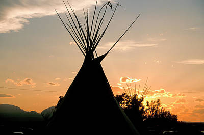 Blackfeet Tepees Made From Canvas Poster by Angel Wynn